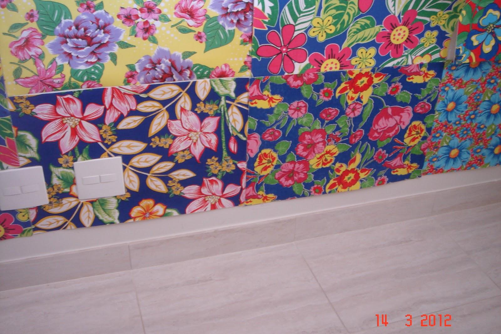 Decora o artesanal mural de chita for Mural de isopor e eva